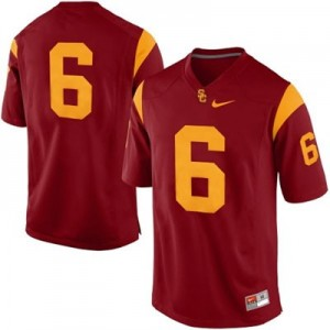 Nike USC Trojans No.6 College - Red Football Jersey