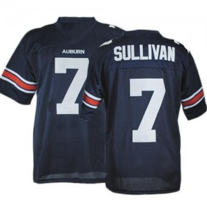 Under Armour Pat Sullivan Auburn Tigers No.7 Youth - Navy Blue Football Jersey