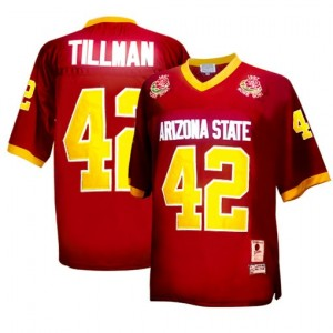 Nike Pat Tillman Arizona State Sun Devils No.42 1997 Rose Bowl Vintage - Red Football Jersey