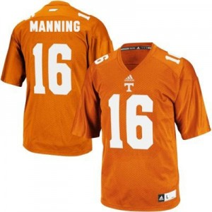 Adidas Peyton Manning Tennessee Volunteers No.16 - Orange Football Jersey