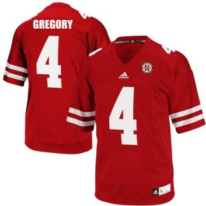 Adida Randy Gregory Nebraska Cornhuskers No.4 - Red Football Jersey