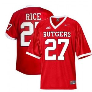 Nike Ray Rice Rutgers Scarlet Knights No.27 - Red Football Jersey