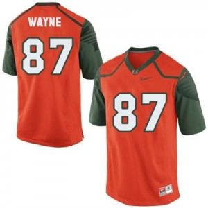 Nike Reggie Wayne Miami Hurricanes No.87 - Orange Football Jersey