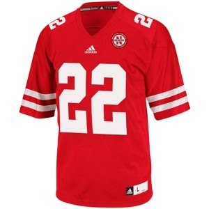 Adida Rex Burkhead Nebraska Cornhuskers No.22 - Red Football Jersey