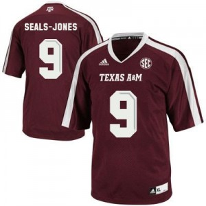 Adidas Ricky Seals Jones Texas A&M Aggies No.9 - Maroon Red Football Jersey
