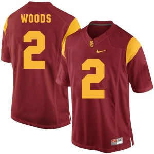 Nike Robert Woods USC Trojans No.2 - Red Football Jersey