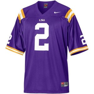 Nike Rueben Randle LSU Tigers No.2 Mesh Youth - Purple Football Jersey