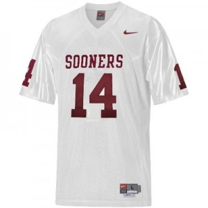 Nike Sam Bradford Oklahoma Sooners No.14 Youth - White Football Jersey