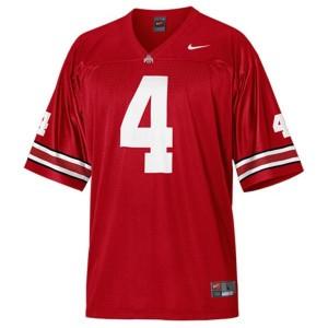Nike Santonio Holmes Ohio State Buckeyes No.4 Youth - Scarlet Red Football Jersey
