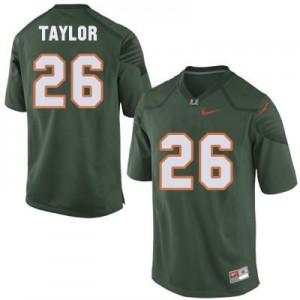 Nike Sean Taylor Miami Hurricanes No.26 - Green Football Jersey