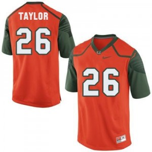 Nike Sean Taylor Miami Hurricanes No.26 - Orange Football Jersey
