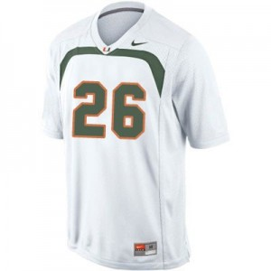 Nike Sean Taylor U of M Hurricanes No.26 - White Football Jersey