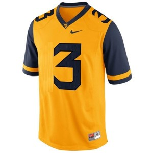 Nike Stedman Bailey West Virginia Mountaineers No.3 - Gold Football Jersey