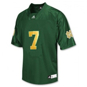 Adida Stephon Tuitt Notre Dame Fighting Irish No.7 Youth - Green Football Jersey