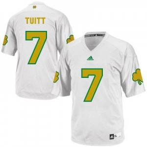 Adida Stephon Tuitt Notre Dame Fighting Irish No.7 Shamrock Series Youth - White Football Jersey