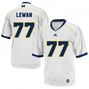 Adida Taylor Lewan UMich Wolverines No.77 - White Football Jersey
