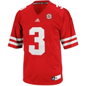 Adida Taylor Martinez Nebraska Cornhuskers No.3 - Red Football Jersey