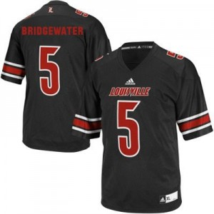 Adidas Teddy Bridgewater Louisville Cardinals No.5 Youth - Black Football Jersey