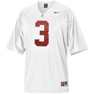 Nike Trent Richardson Alabama Crimson Tide No.3 Youth - White Football Jersey