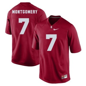 Nike Ty Montgomery Stanford Cardinal No.7 - Red Football Jersey