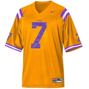Nike Tyrann Mathieu LSU Tigers No.7 Mesh Youth - Gold Football Jersey