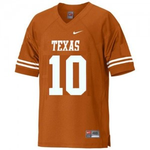 Nike Vince Young Texas Longhorns No.10 Youth - Orange Football Jersey