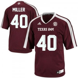 Adidas Von Miller Texas A&M Aggies No.40 Youth - Maroon Red Football Jersey