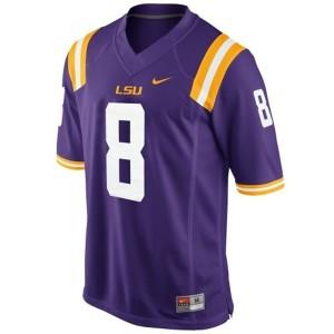 Nike Zach Mettenberger LSU Tigers No.8 Mesh - Purple Football Jersey