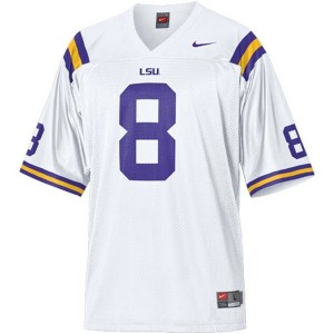 Nike Zach Mettenberger LSU Tigers No.8 Mesh Youth - White Football Jersey