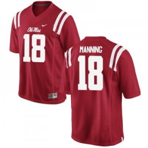 Nike Archie Manning Ole Miss Rebels No.18 - Red Football Jersey