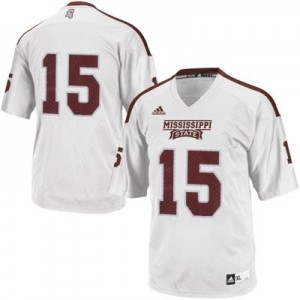 Adida Mississippi State Bulldogs No.15 Youth - White Football Jersey