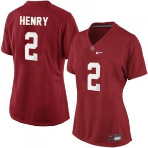 Nike Derrick Henry Alabama Crimson Tide No.2 Women - Crimson Red Football Jersey