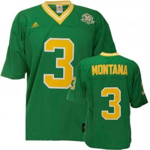 Adida Joe Montana Notre Dame Fighting Irish No.3 - Green Football Jersey