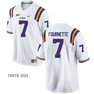Nike Leonard Fournette LSU Tigers No.7 Youth - White Football Jersey