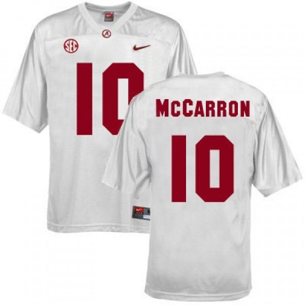 1b5c13645 Nike A.J. McCarron Alabama Crimson Tide No.10 - White Football Jersey