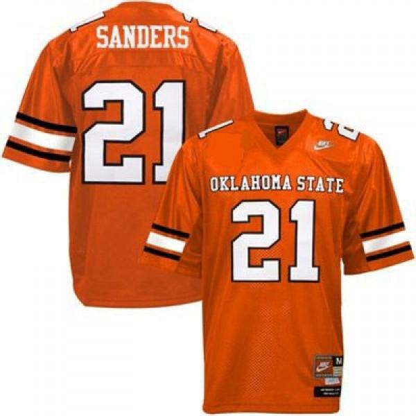 reputable site 91cbc b85f0 Nike Barry Sanders Oklahoma State Cowboys No.21 Youth - Orange Football  Jersey