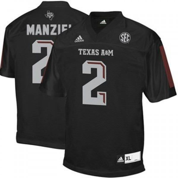 lowest price 1f9ad b28cd Adidas Johnny Manziel Texas A&M Aggies No.2 - Black Football Jersey